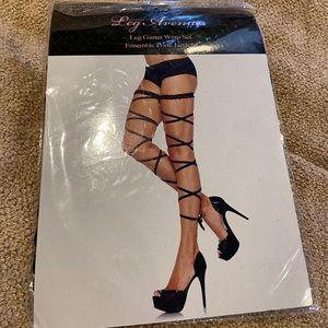 BN leg garter strap black